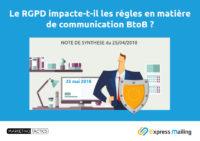 Le RGPD impacte-t-il les règles en matière de BtoB